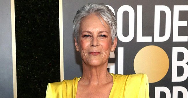 Jamie Lee Curtis at the 78th Annual Golden Globe Awards held on February 28, 2021 in Beverly Hills, California.   Photo: Getty Image