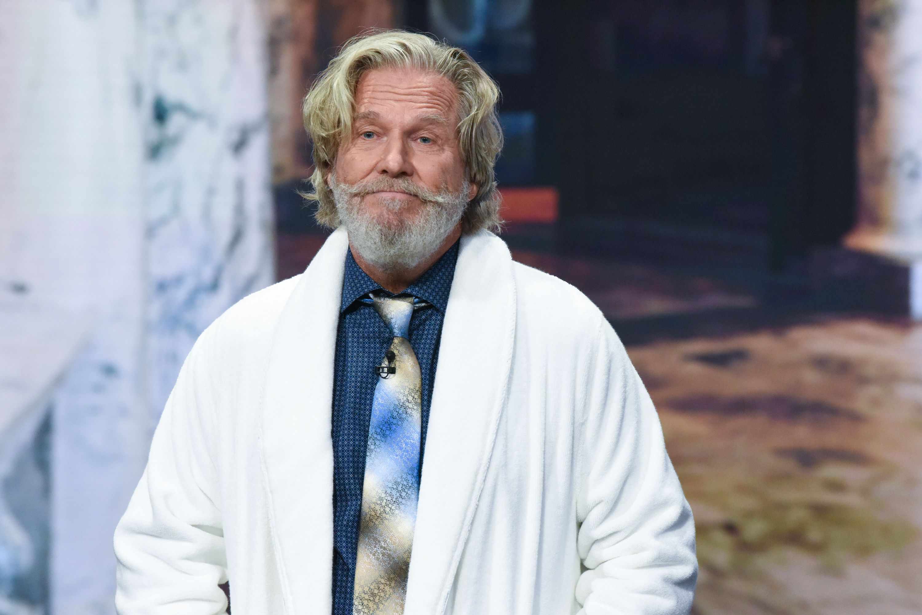 """Jeff Bridges as a guest on """"The Late Show with Stephen Colbert"""" on September 28, 2018 