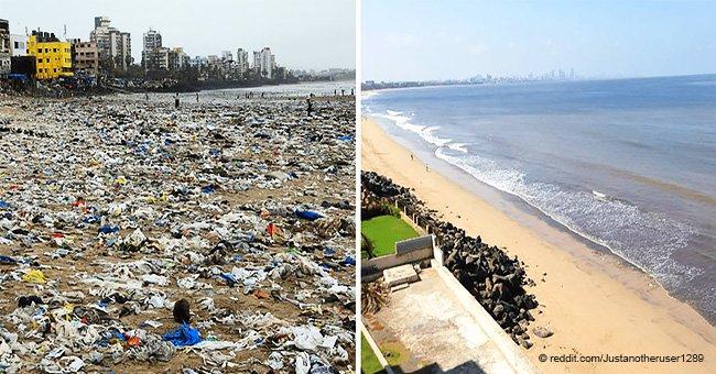Miles de personas limpian la naturaleza y comparten fotos de antes y después en nuevo reto viral