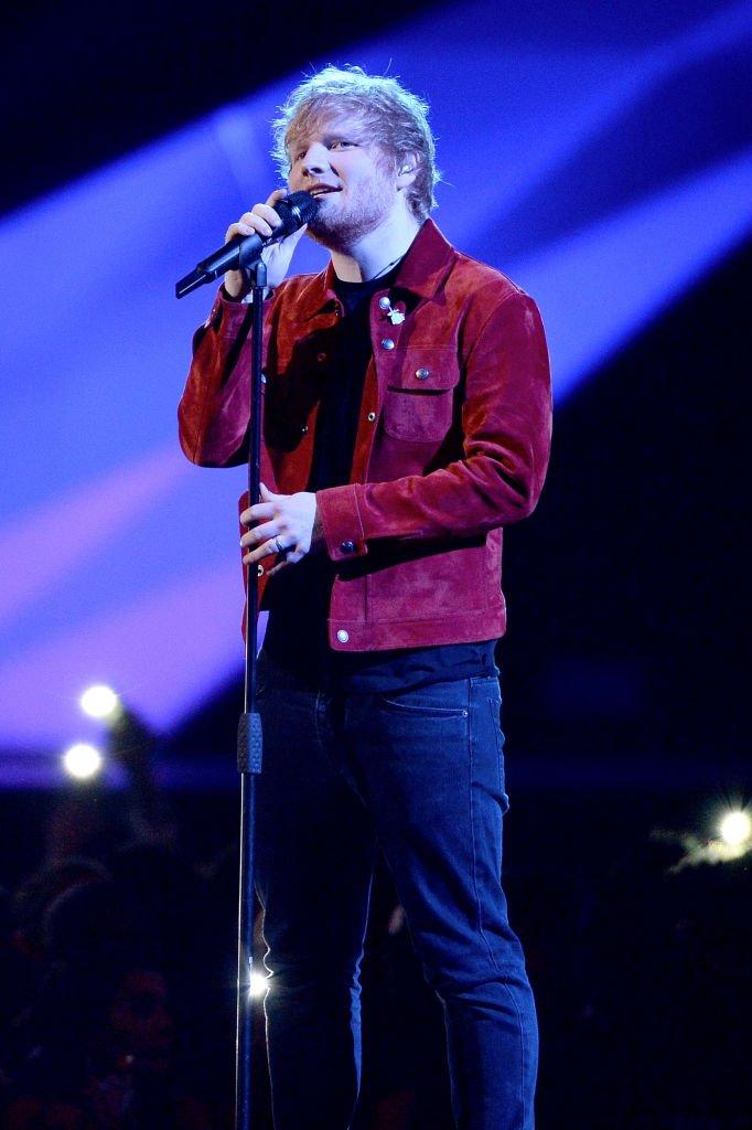 Ed Sheeran en février 2018 à Londres. Photo : Getty Images