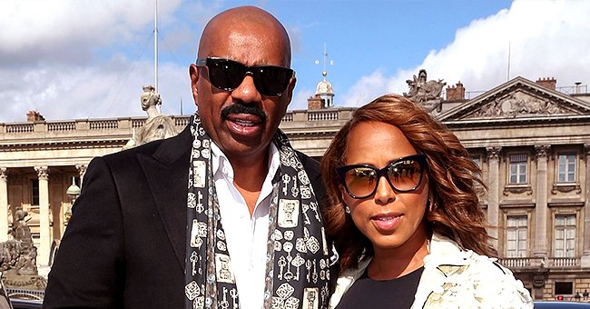 Steve Harvey Shares Video of Pre-Stage Routine with Wife Marjorie by His Side Laying down Her Edges