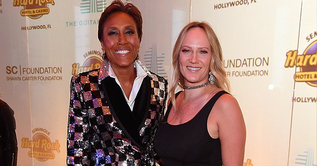 Robin Roberts Wows in Checkered Jacket in Photo with Longtime Girlfriend Amber Laign at the Shawn Carter Foundation Gala