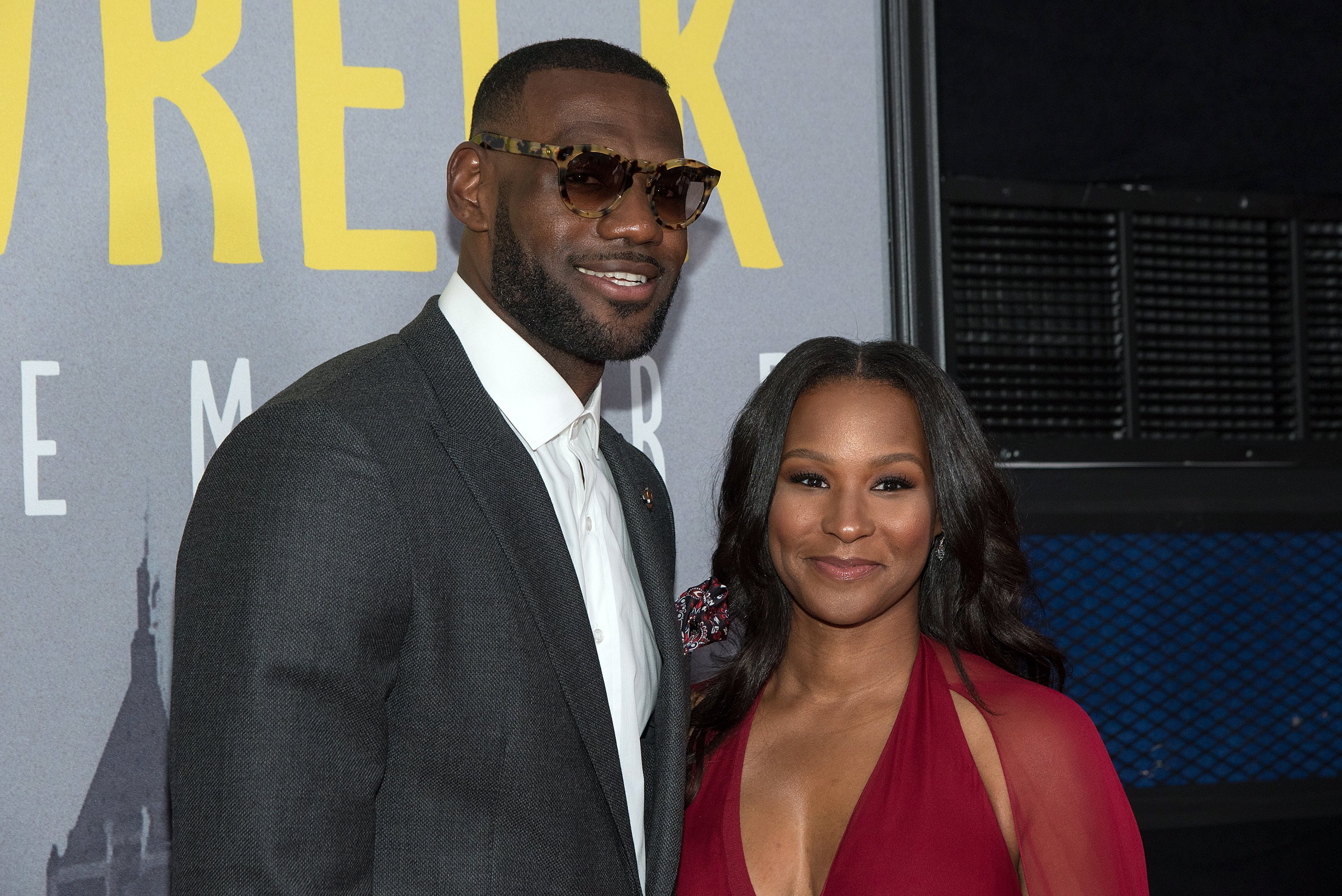 "LeBron & Savannah James at the ""Trainwreck"" New York Premiere on July 14, 2015 in New York City 
