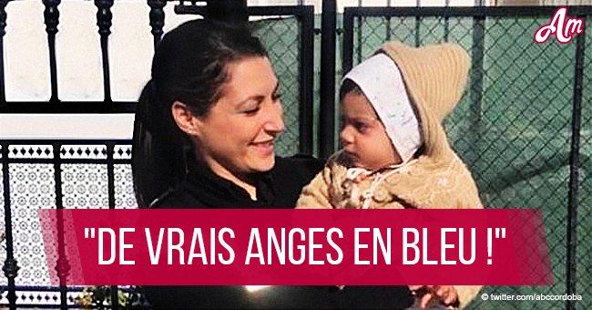 Des policiers héroïques sauvent un bébé de 14 mois qui étouffe