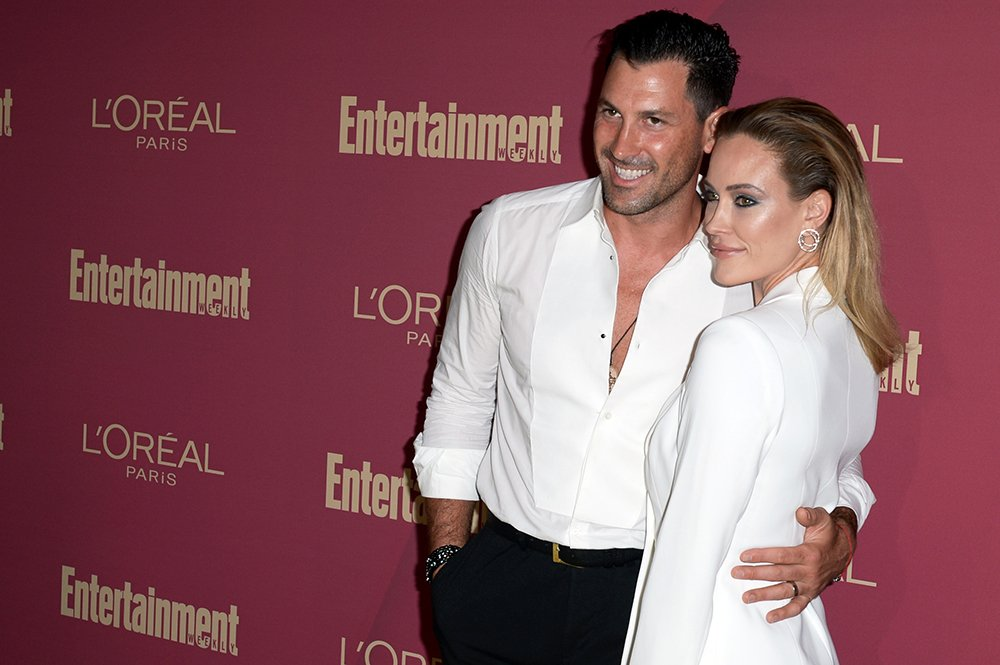 Maksim Chmerkovskiy and Petra Murgatroyd attending the 2019 Pre-Emmy Party hosted by Entertainment Weekly and L'Oreal Paris at Sunset Tower Hotel in Los Angeles in September 2019. I Image: Getty Images.