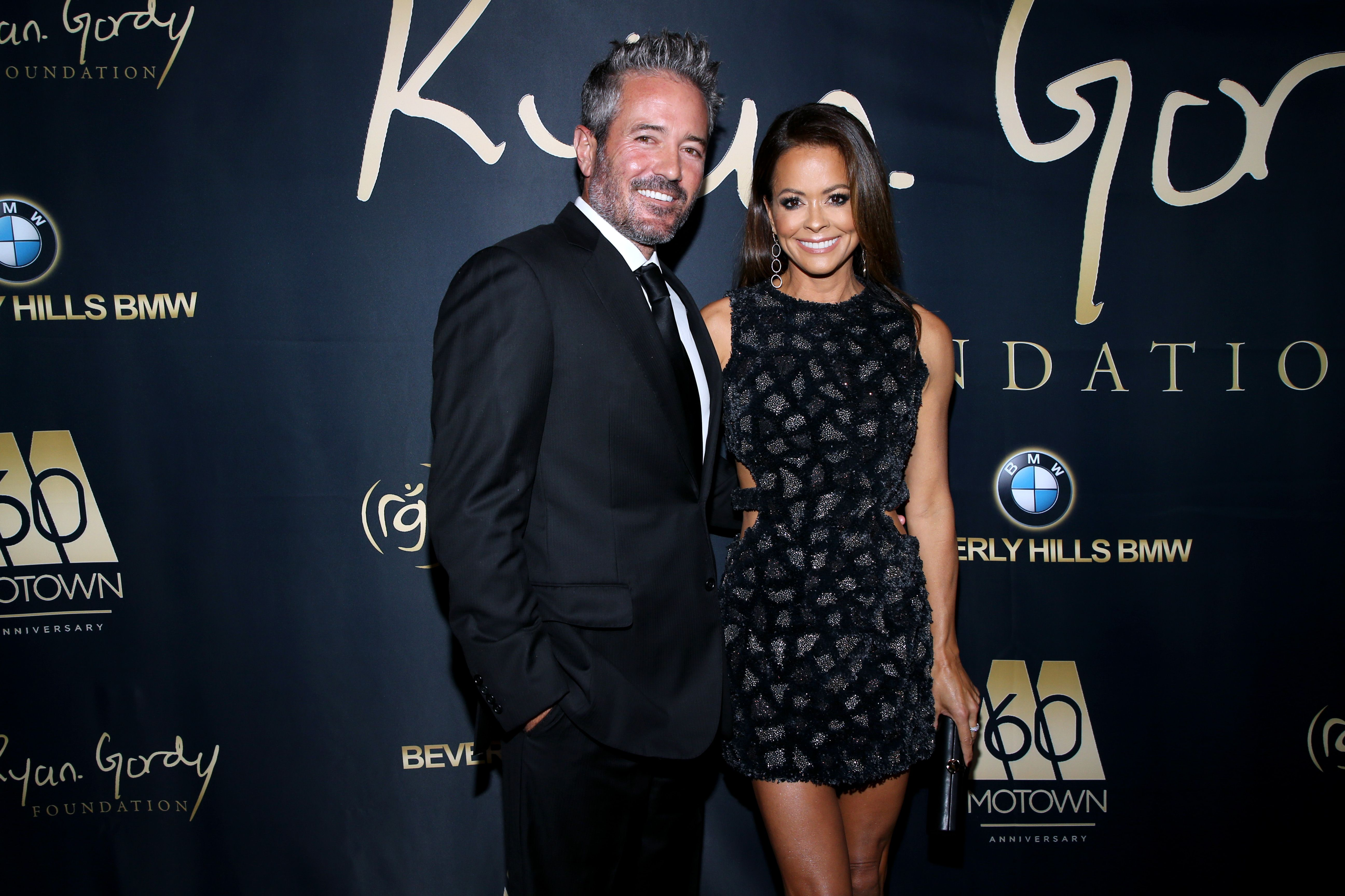 Scott Rigsby and Brooke Burke at Ryan Gordy Foundation Celebrates 60 Years of Mowtown at Waldorf Astoria Beverly Hills on November 11, 2019 | Photo: Getty Images