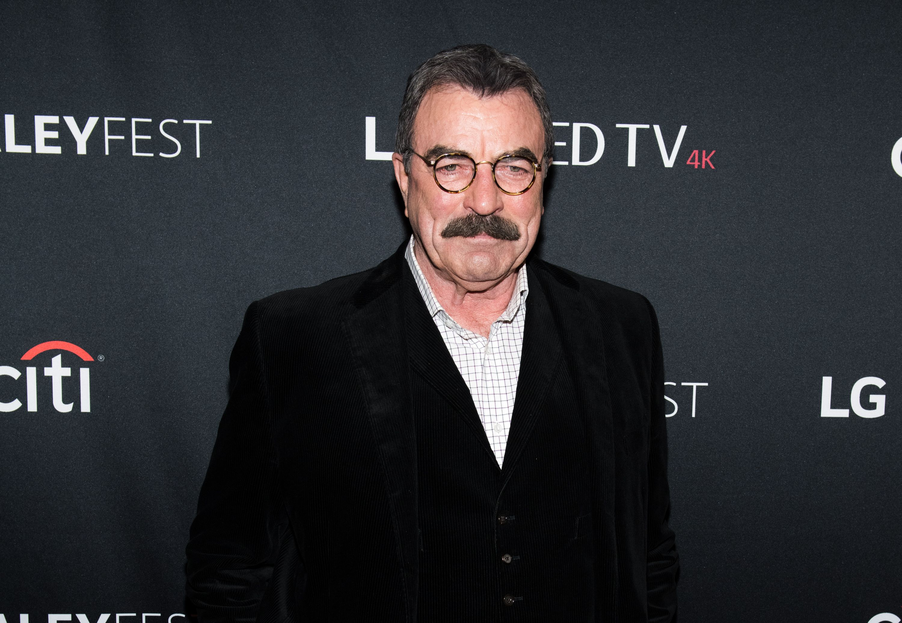 """Actor Tom Selleck at the """"Blue Bloods"""" screening during PaleyFest NY 2017 at The Paley Center for Media on October 16, 2017 