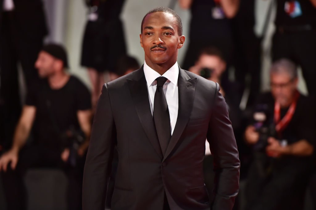 "Anthony Mackie walks the red carpet ahead of the ""Seberg"" screening during the 76th Venice Film Festival at Sala Grande 