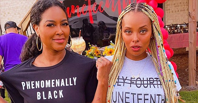 Kenya Moore and Eva Marcille Celebrate Juneteenth with Their Kids