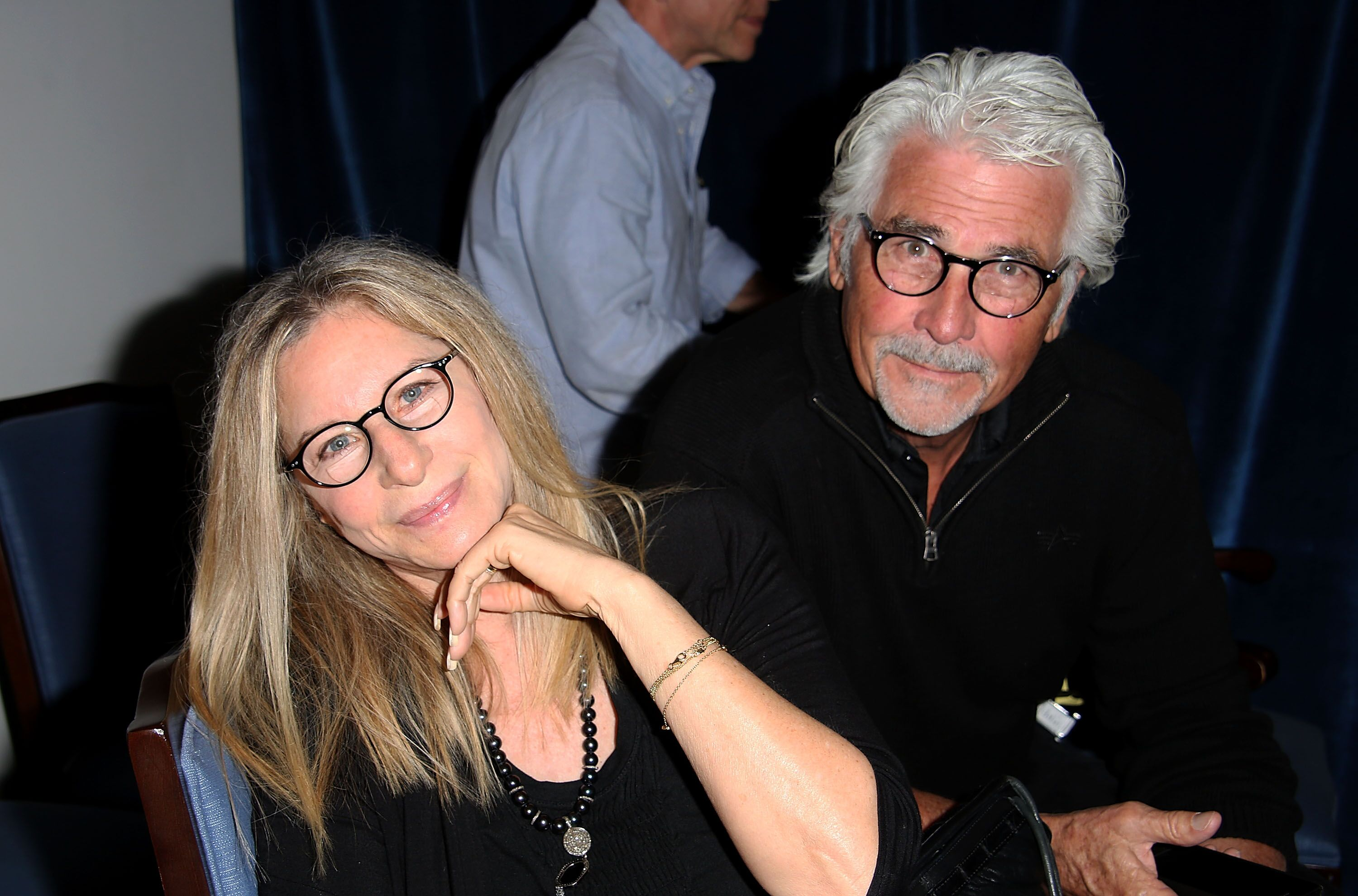 "Barbra Streisand and James Brolin attend the ""And So It Goes"" premiere. 