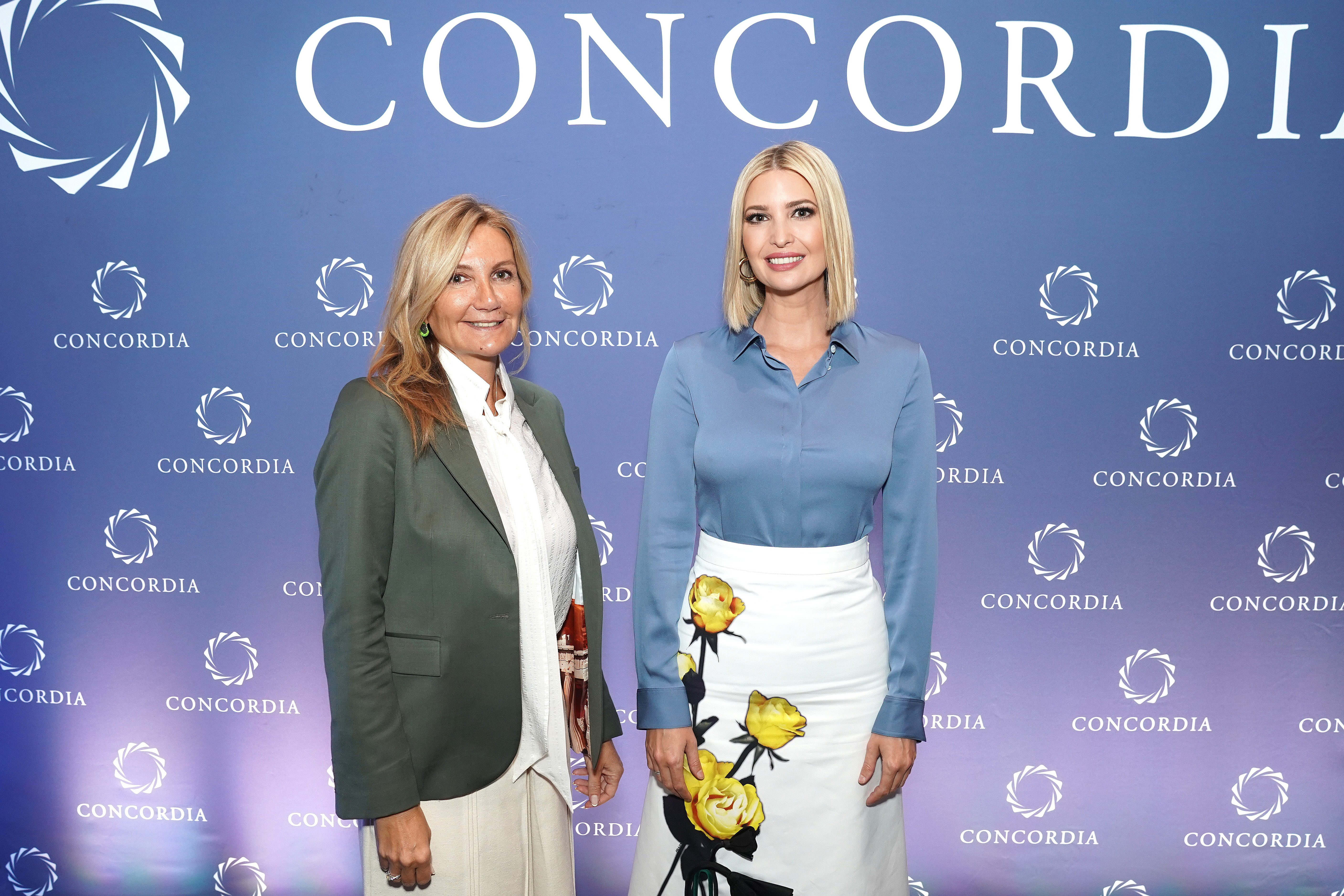 First Lady of Greece, Mareva Grabowski-Mitsotakis and Advisor to the President Ivanka Trump pose for a picture during the 2019 Concordia Annual Summit - Day 1 at Grand Hyatt New York on September 23, 2019 in New York City | Photo: Getty Images