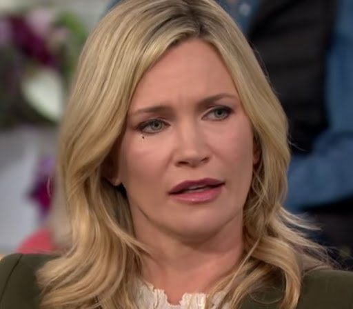 """Natasha Henstridge being interviewed by Megan Kelly on """"Today"""" in November 2017. 