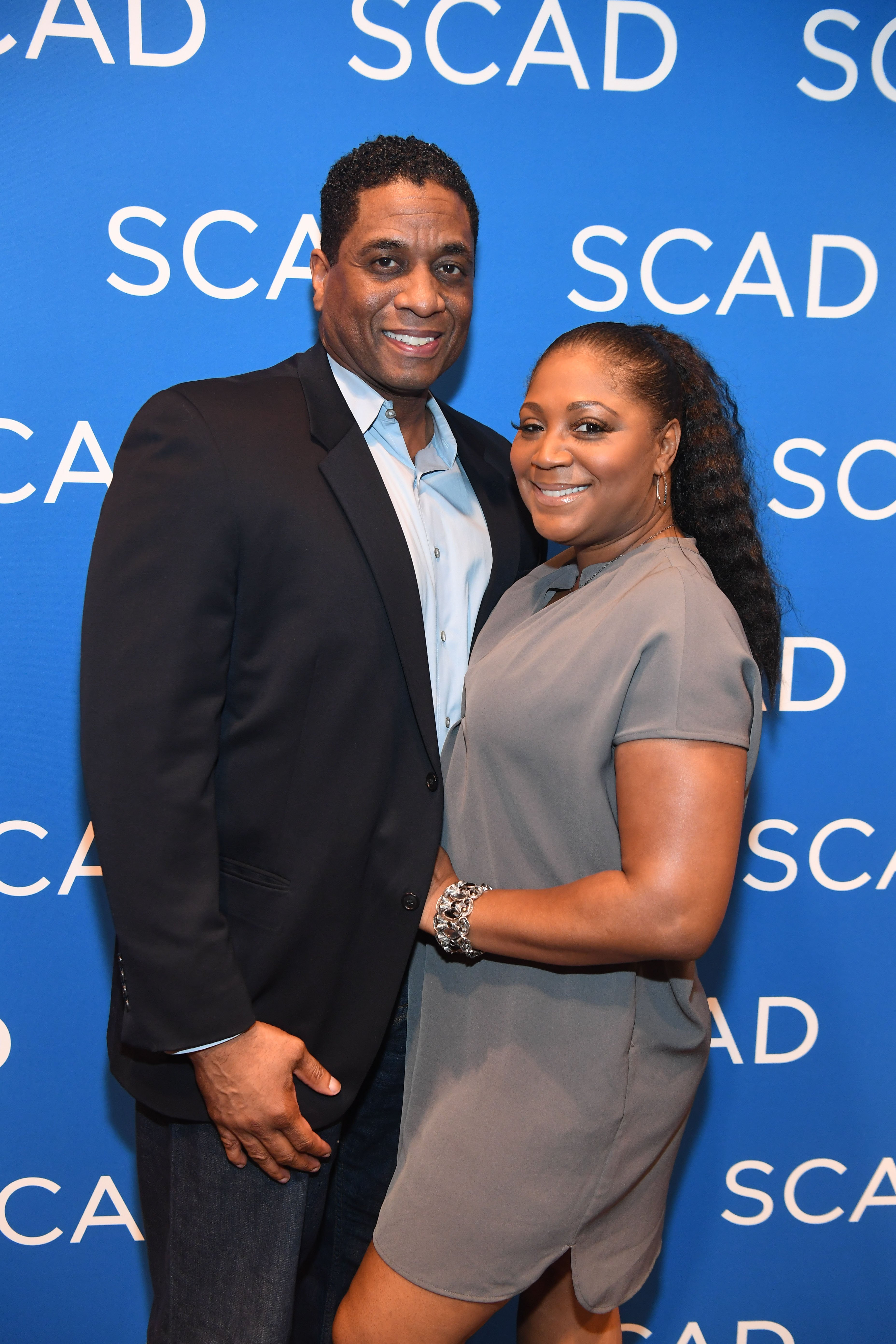 """Trina Braxton and Von Scales at a special screening of """"Black Panther"""" in February 2018. 