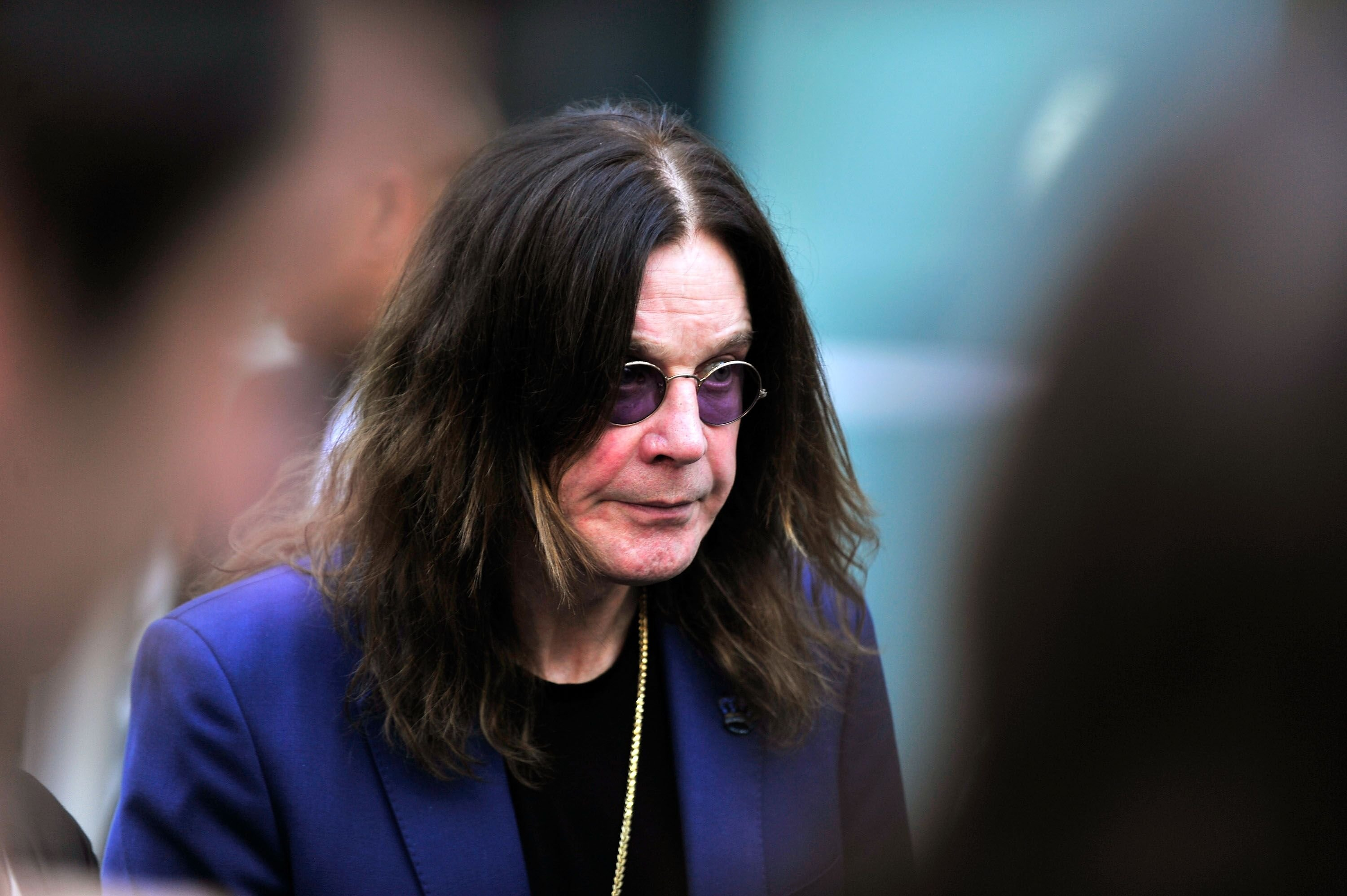 """Ozzy Osbourne attends the premiere of """"Amy."""" 