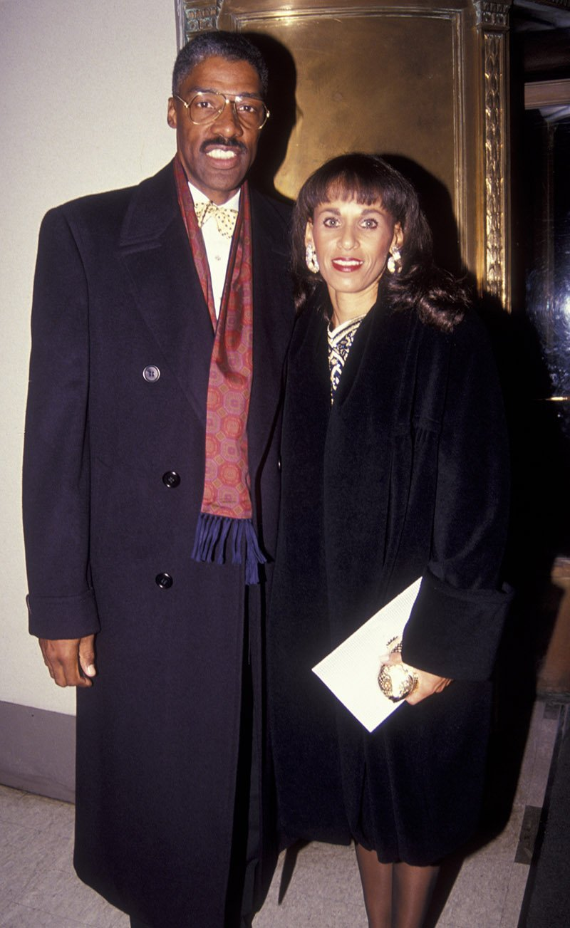 Julius Erving and wife Turquoise Erving attend the opening of 'Scheherazade' on November 13, 1991 at the Dance Theater of Harlem in New York City. I Image: Getty Images.