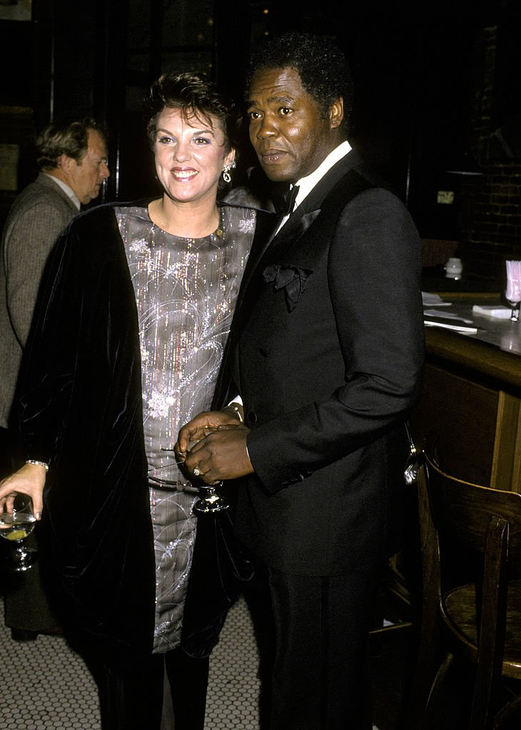 Tyne Daly and Georg Stanford Brown at the Actor's Fund Benefit at Gingerman Restaurant in New York   Photo: Getty Images
