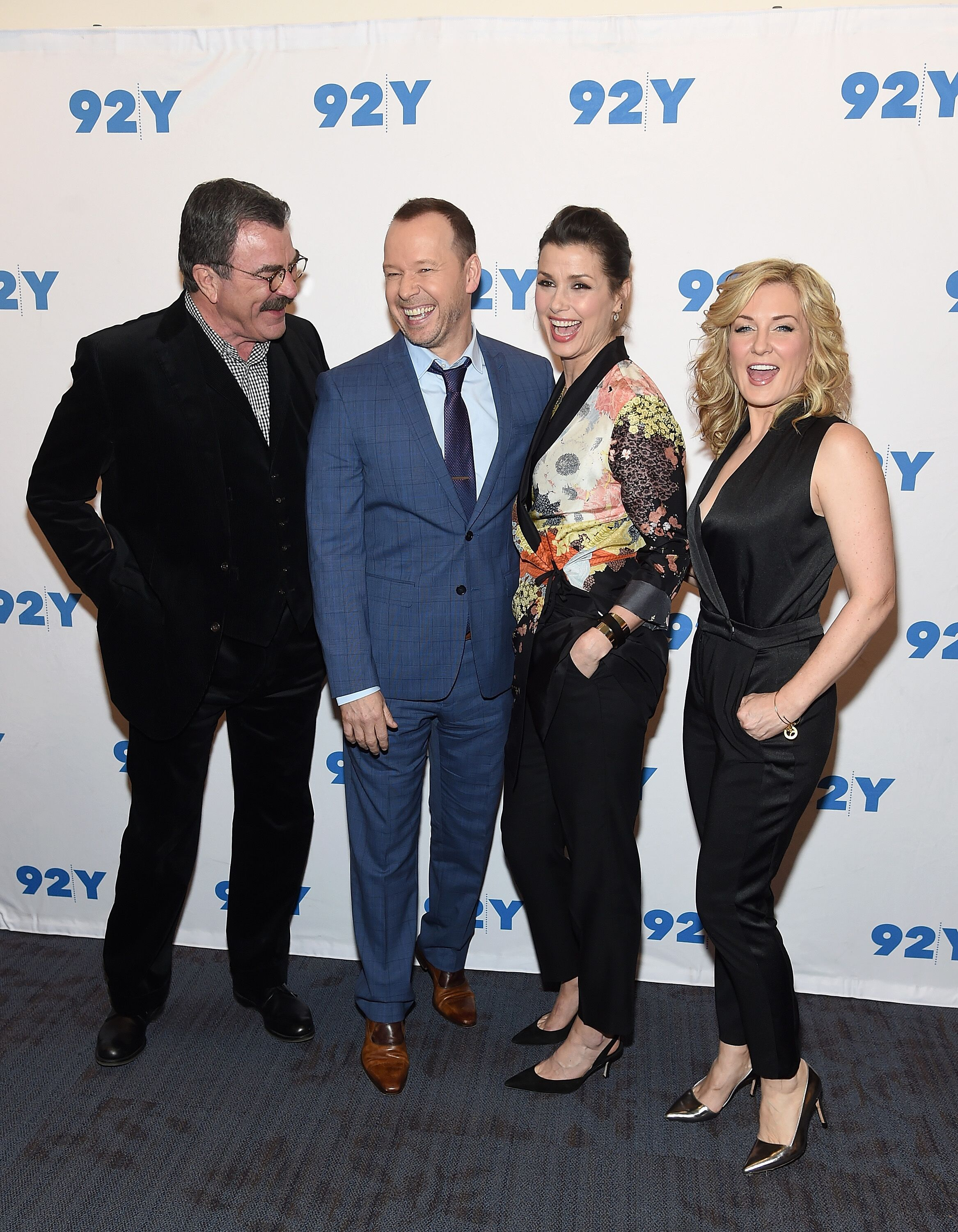 Tom Selleck,Donnie Wahlberg,Bridget Moynahan and Amy Carlson attend the Blue Bloods 150th Episode Celebration | Getty Images