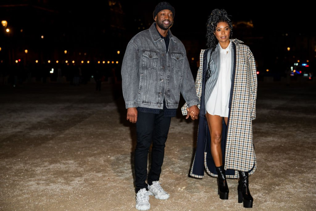 Dwyane Wade and Gabrielle Union seen outside Acne during Paris Fashion Week - Menswear F/W 2020-2021 on January 19, 2020   Photo: Getty Images