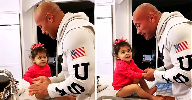 Dwayne Johnson Adorably Teaches Daughter to Wash Her Hands Using 'Moana' Theme Song