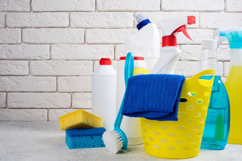 Suministros de limpieza. Fuente: Shutterstock