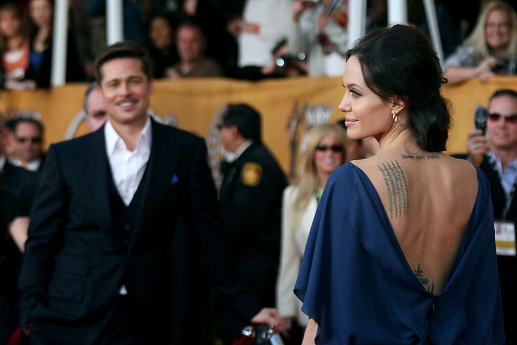 Angelina Jolie and her ex-husband Brad Pitt attend the 15th Annual Screen Actors Guild Awards in Los Angeles, California on January 25, 2009 | Photo: Getty Images