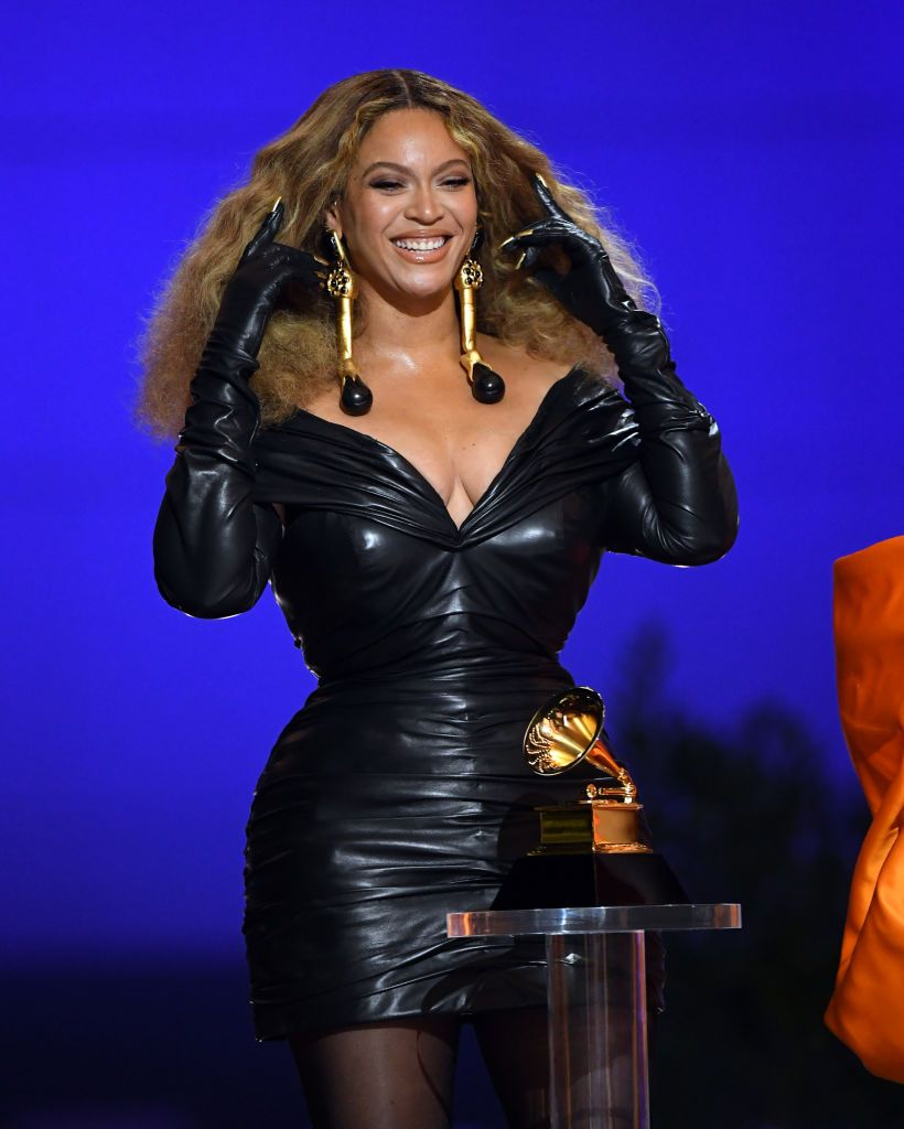 Beyoncé at the 2021 Grammys on March 14, 2021 in Los Angeles, California   Source: Getty Images