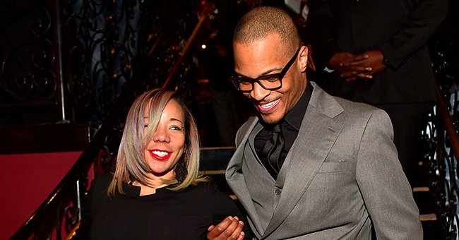 Tiny Harris Celebrated TI's 40th Birthday in a White Dress That Showed off Her Chest Tattoo