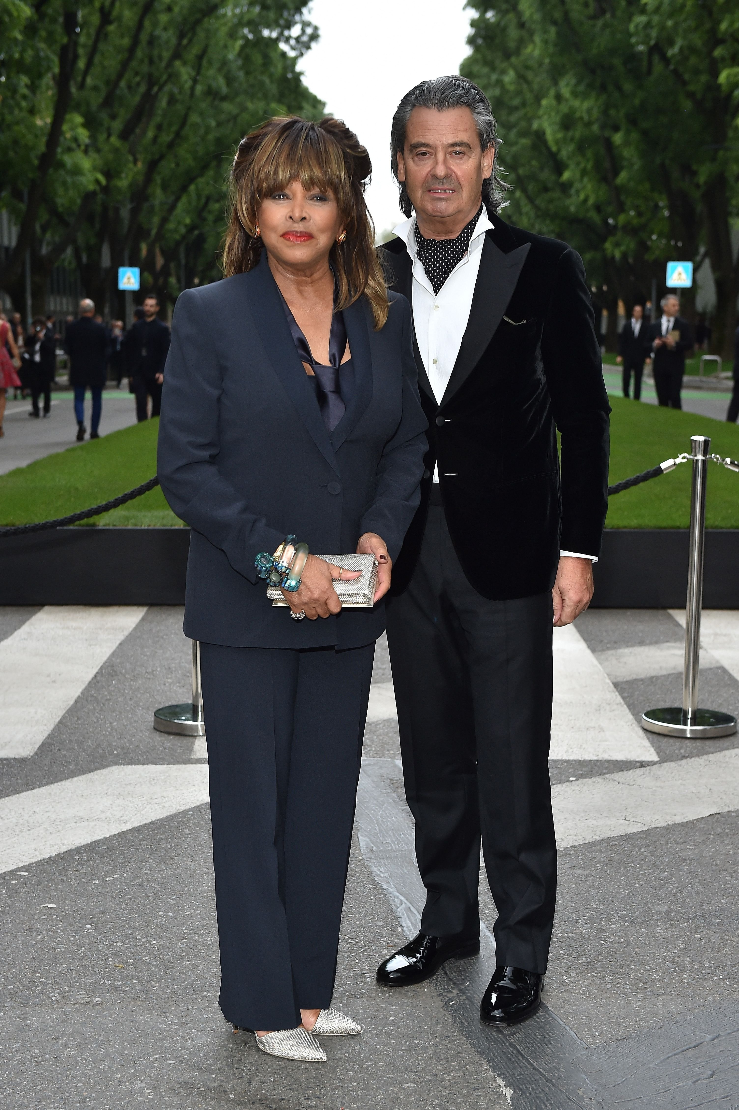 Tina Turner and Erwin Bach at the Giorgio Armani 40th Anniversary Cocktail Reception in 2015 in Milan, Italy | Source: Getty Images