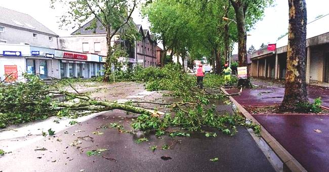 Les photos d'une violente tempête à Gray et en Haute-Saône