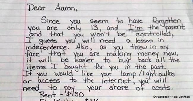 Mother's Life-Lesson Letter to Disrespectful Son about Independence Went Viral