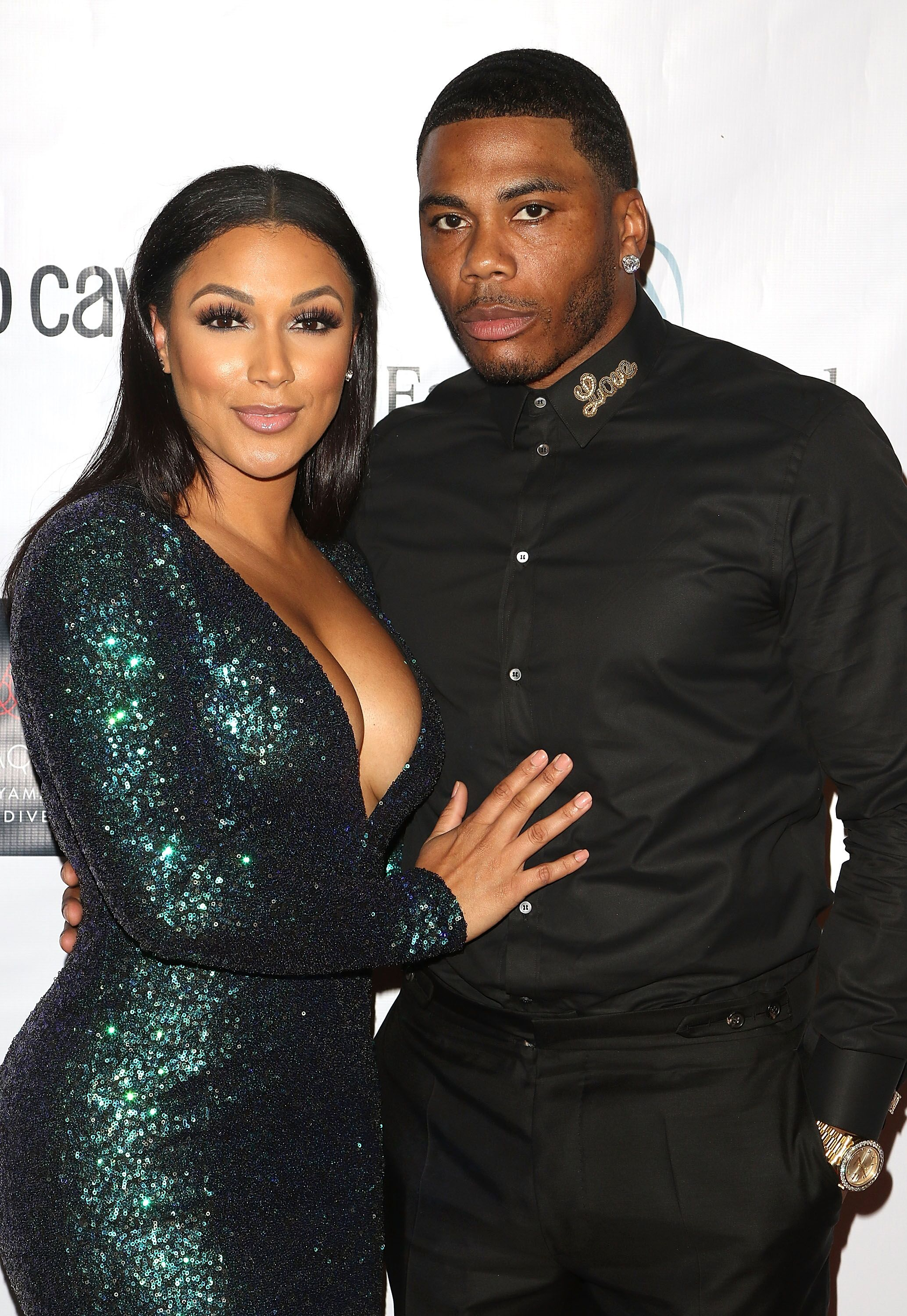 Rapper Nelly with his long-time girlfriend, Shantel Jackson/ Source: Getty Images