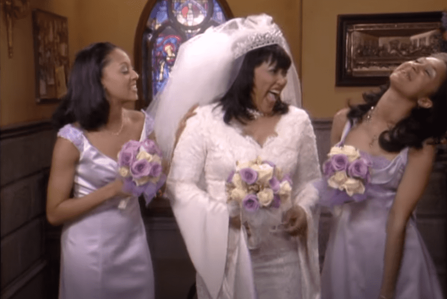 """A picture of Jackée Harry and Tia and Tamera  Mowry in a scene from the series, """"Sister, Sister"""" 