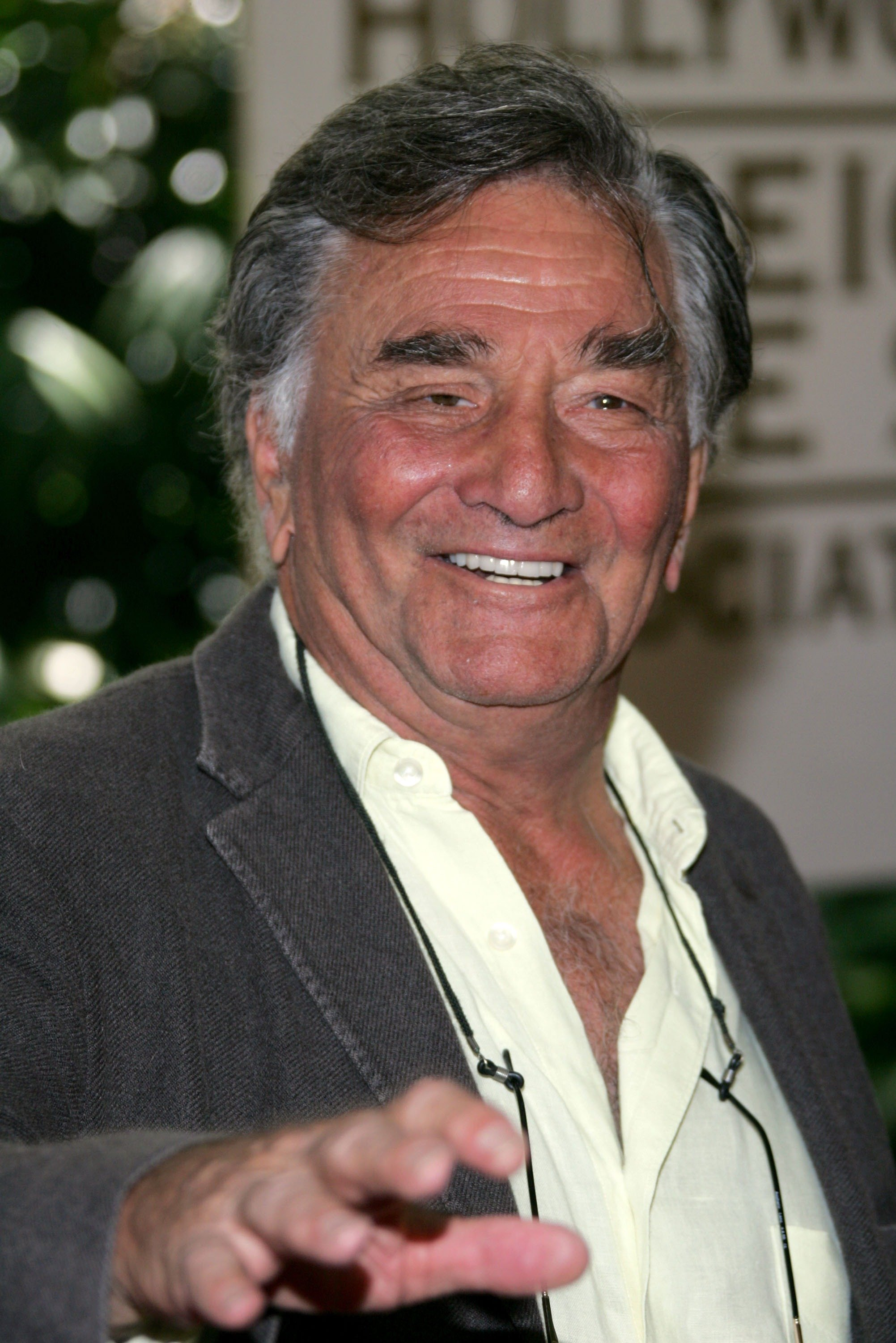 Peter Falk on August 9, 2007, in Beverly Hills, California. | Source: Getty Images.