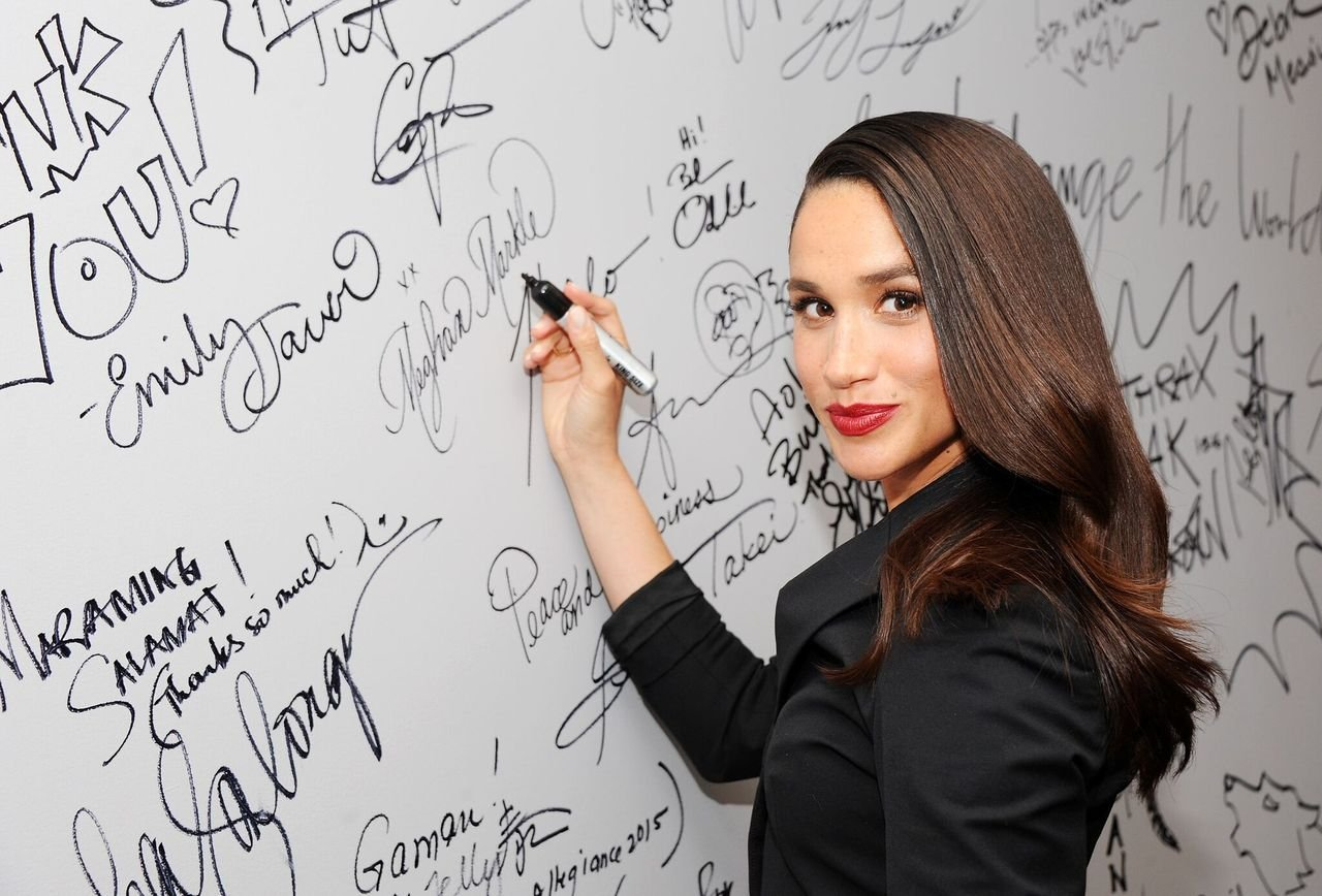 """Meghan Markle discusses her role in the very popular """"Suits during AOL Build at AOL Studios In New York in New York City 
