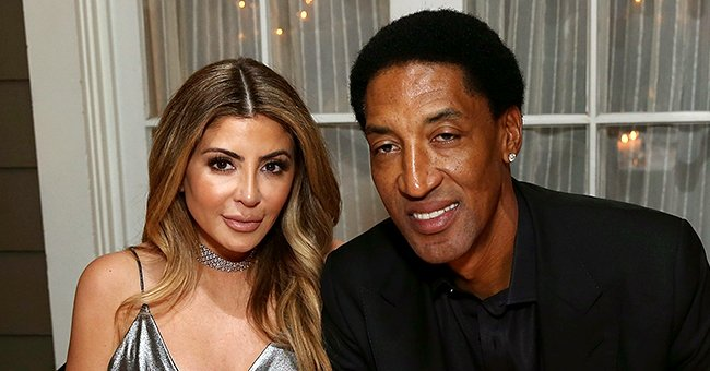 Scottie Pippen's Ex-wife Larsa Flaunts Her Sparkling Jewelry While Posing in a Denim Dress