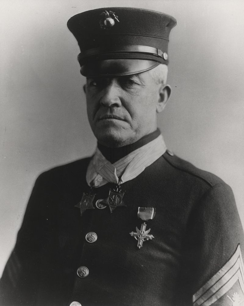 Portrait of Seegeant Major Daniel J. Daly, a double recipient of the Medal of Honor   Source: Wikimedia Commons