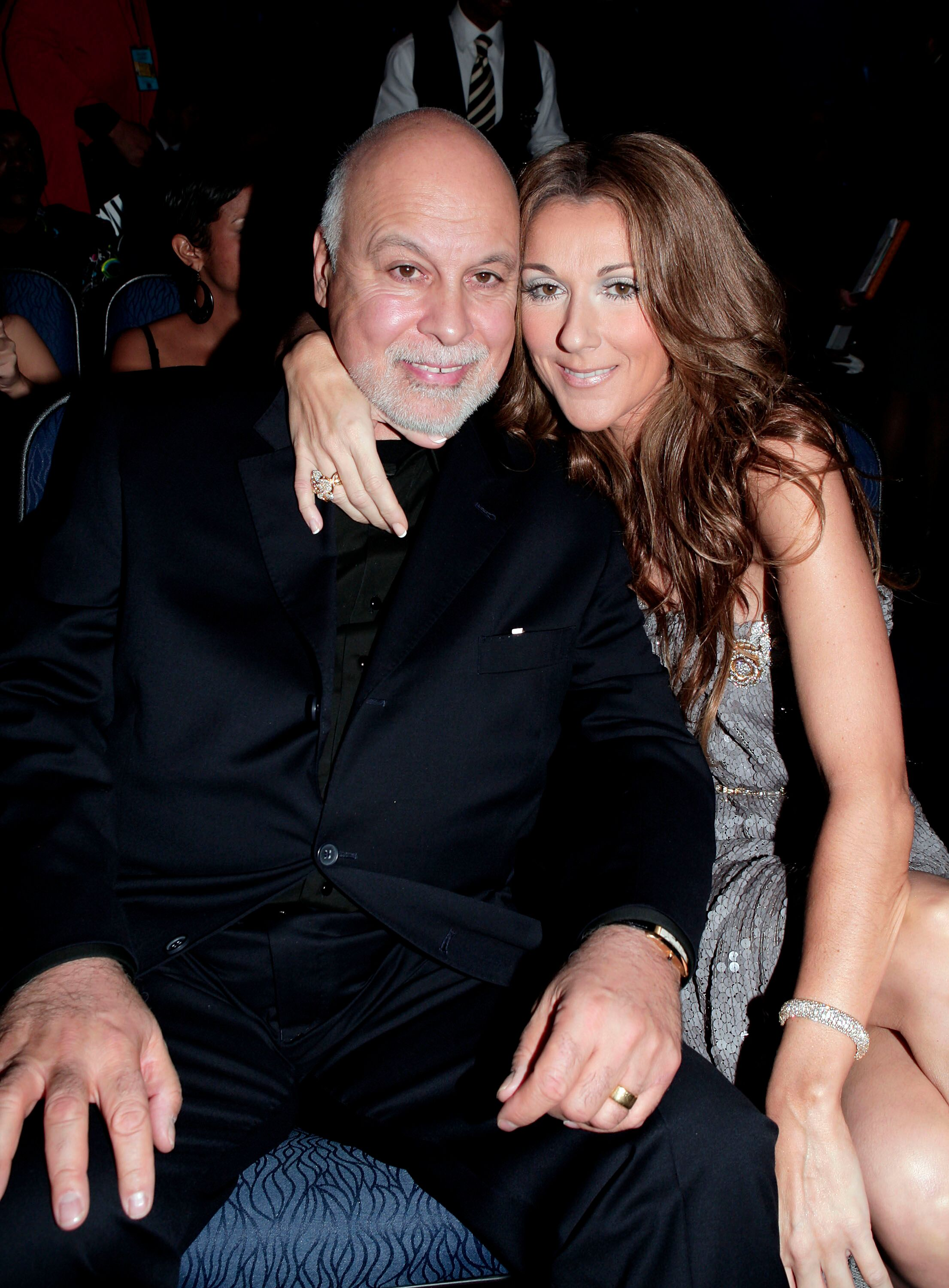 Celine Dion and husband Rene Angelil in the audience during the 2007 American Music Awards. | Source: Getty Images