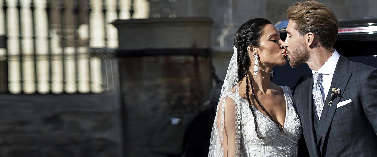 Futbolista Sergio Ramos se casa con Pilar Rubio en una boda extravagante