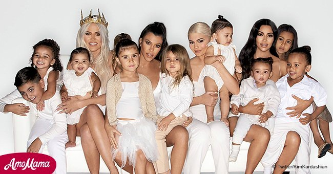 Kardashians reveal new all-white Christmas card, but a lot of family members are missing