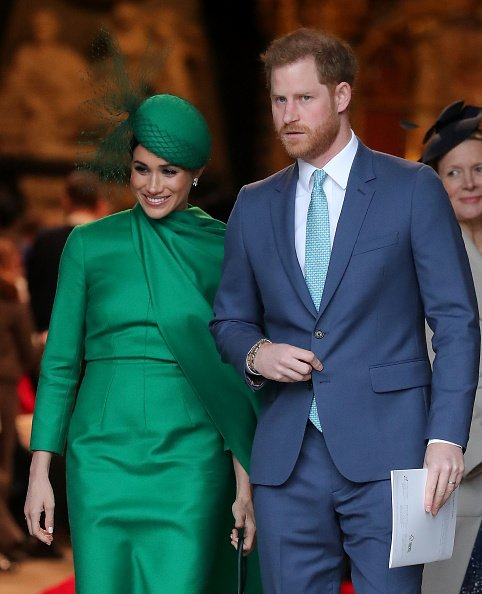 Prince Harry and Meghan Markle attend the Commonwealth Day Service 2020 on March 09, 2020 | Photo: Getty Images