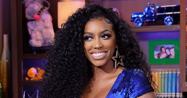 Porsha Williams and Daughter Pilar Jhena Pose at Their Fabulously Decorated Home for Christmas