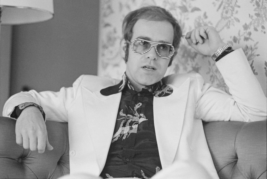 Elton John posed during an interview with Sounds music newspaper in London   Photo: Getty Images