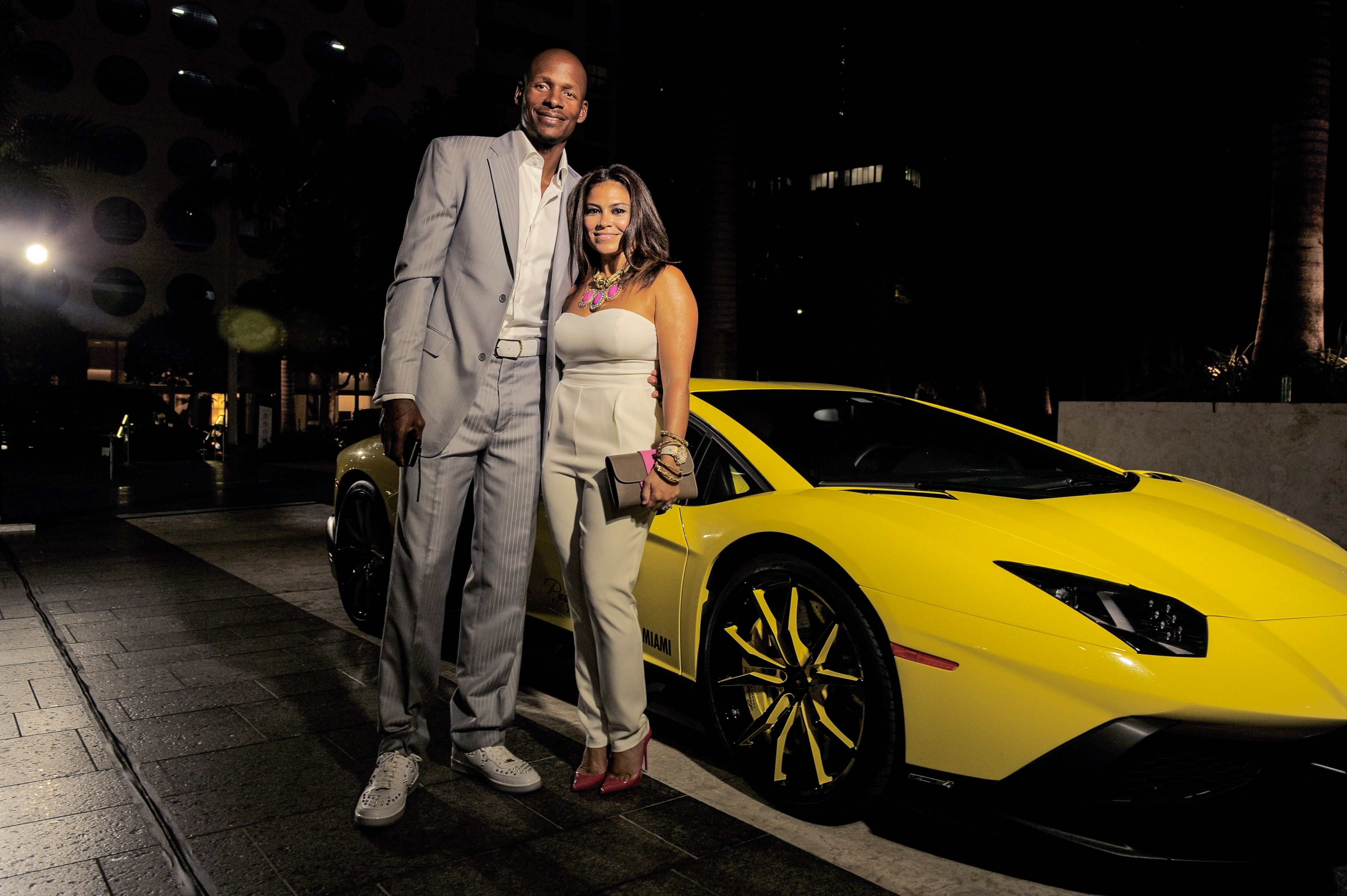 Ray Allen and his wife Shannon Allen at the Dom Perignon Haute Living 100 Dinner in May 2015 in Miami, Florida | Source: Getty Images