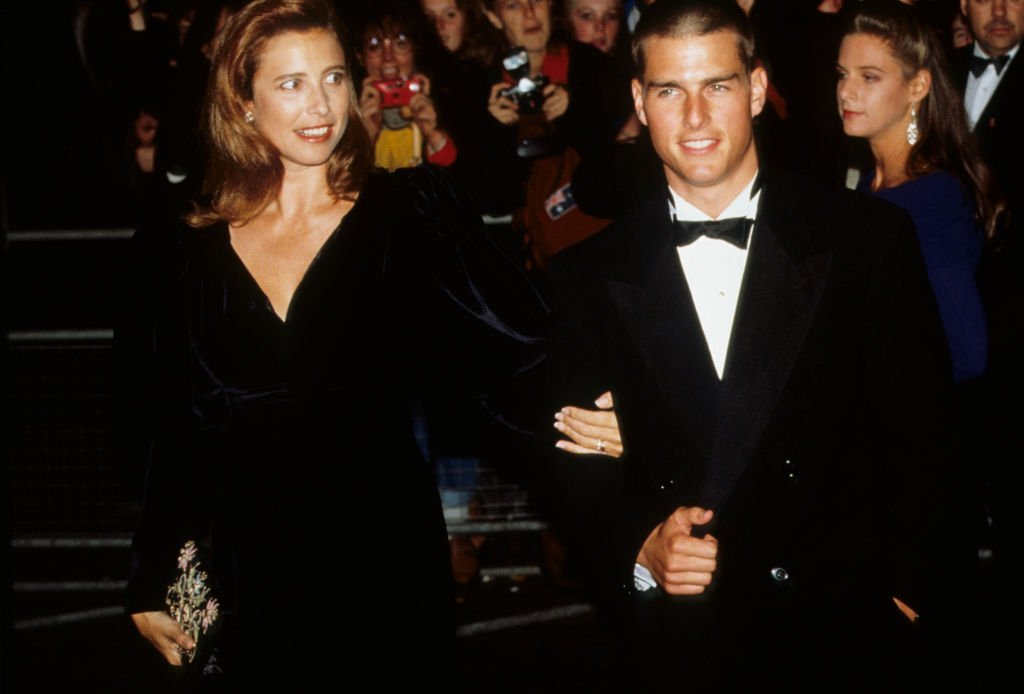 Tom Cruise and his wife Mimi Rogers attend a premiere in London, 1989 circa. | Getty Images