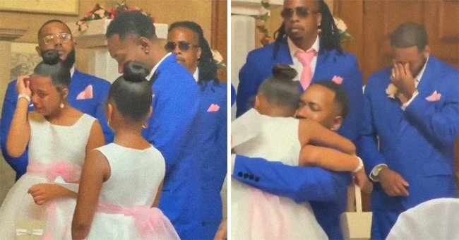In a surprise proposal, a groom asks his bride's daughters if he can adopt them and causes them to become emotional | Photo: Instagram/handsome_is_me