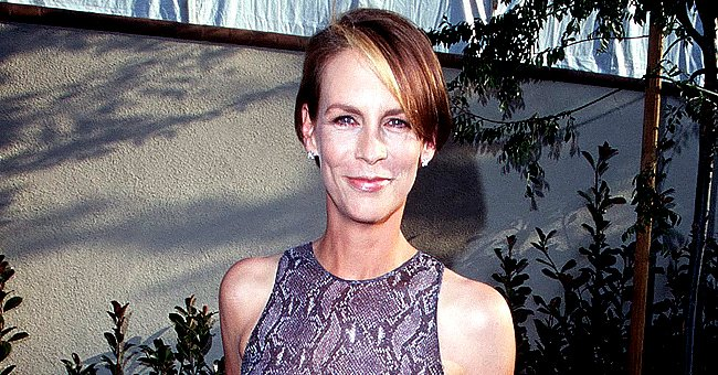 Jamie Lee Curtis Dons a Snake-Print Dress in Breathtaking Throwback Photo at the MTV Awards