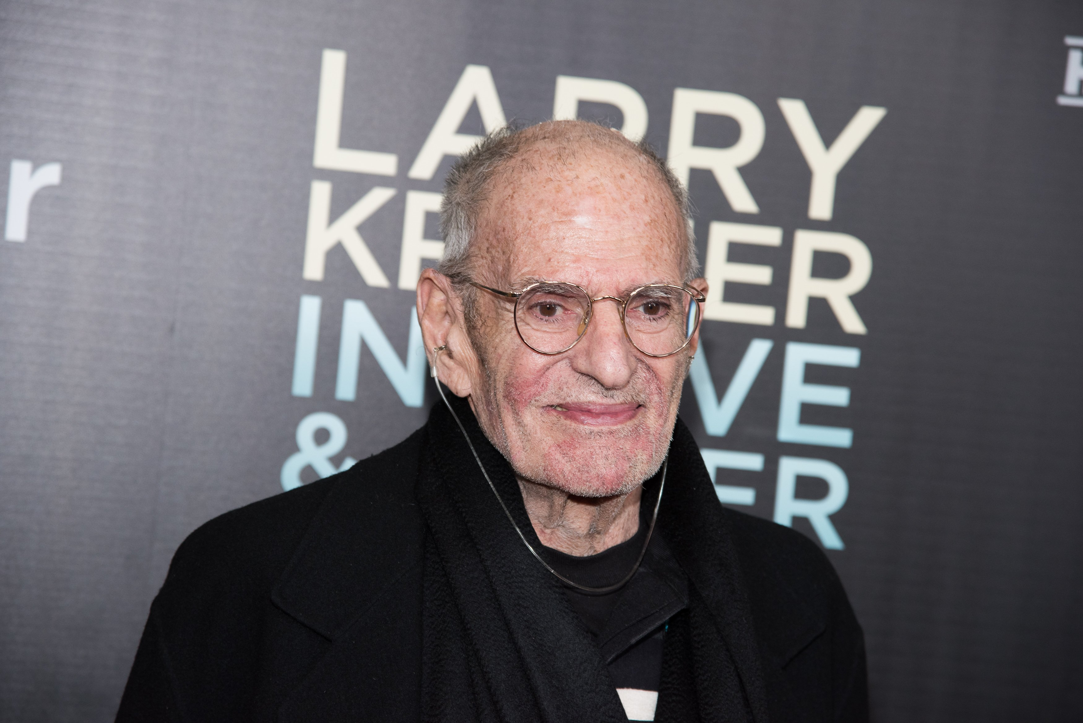 "Larry Kramer attends the ""Larry Kramer In Love And Anger"" New York premiere at Time Warner Center on June 1, 2015 in New York City 