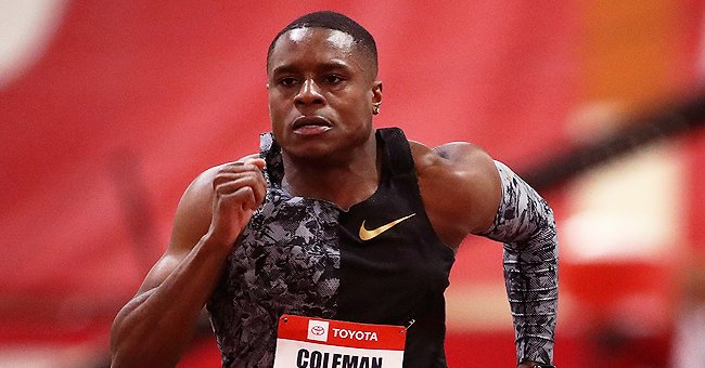 Christian Coleman competes in the Men's 60 M during the 2020 Toyota USATF Indoor Championships on February 14, 2020.   Photo: Getty Images