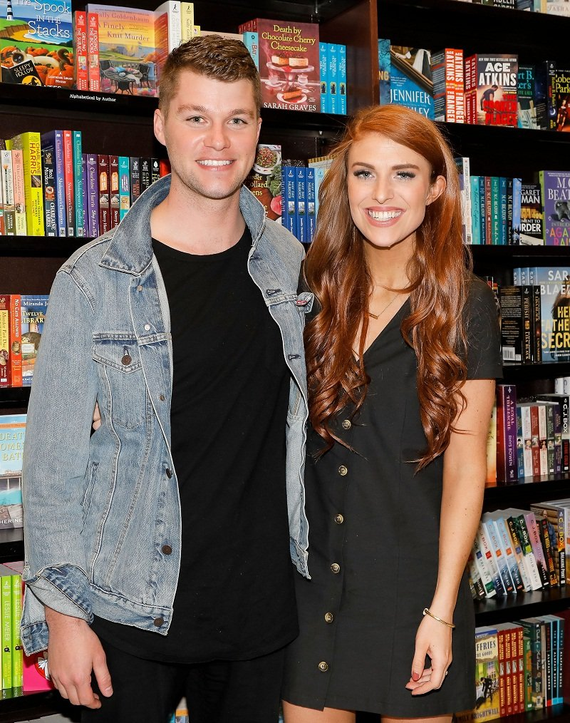 """Jeremy Roloff and Audrey Roloff celebrating their book """"A Love Letter Life"""" in Los Angeles, California, in April 2019. 