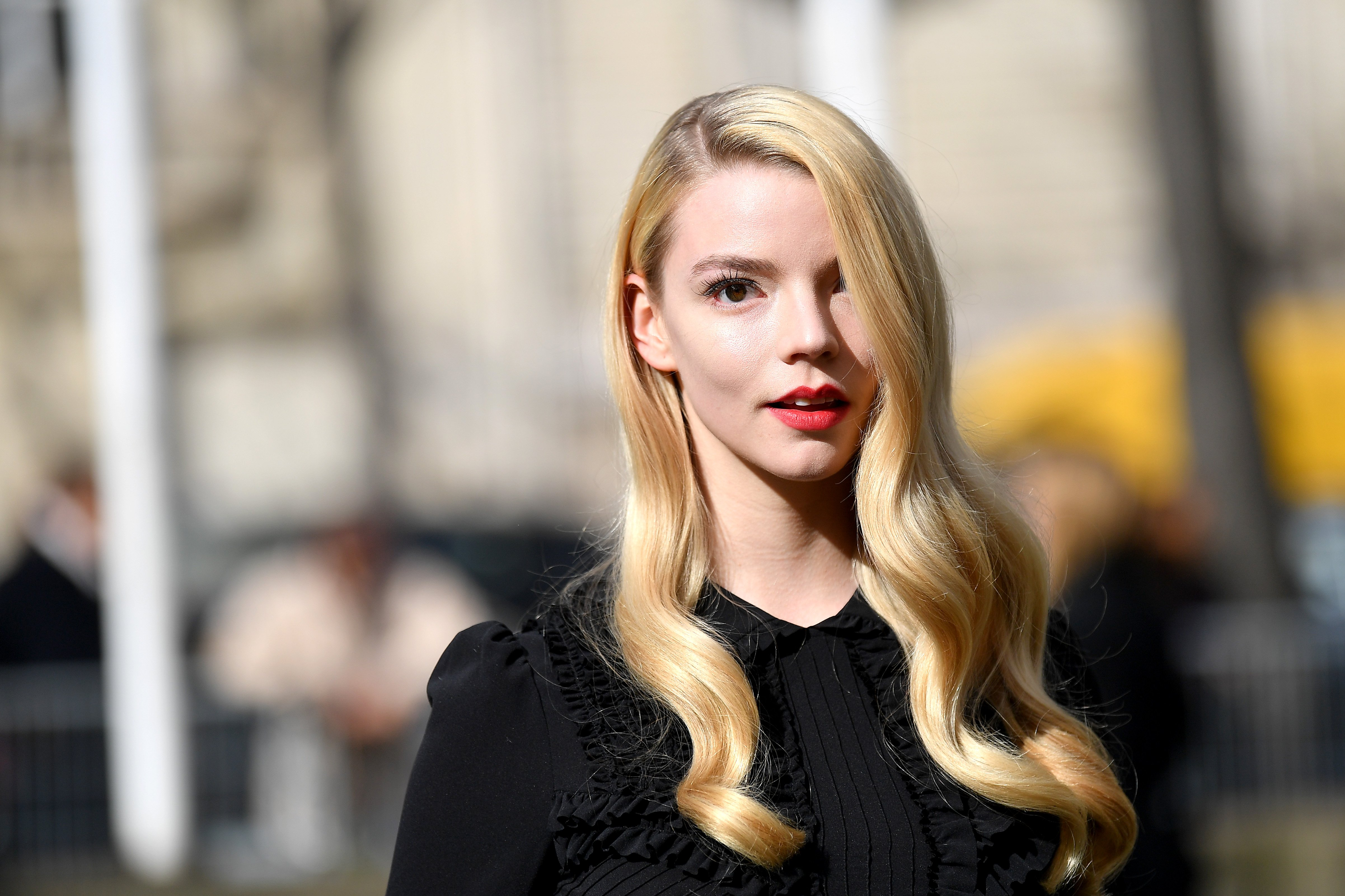 Anya Taylor-Joy attends the Paris Fashion Week on March 3, 2020 in Paris, France.   Photo: Getty Images